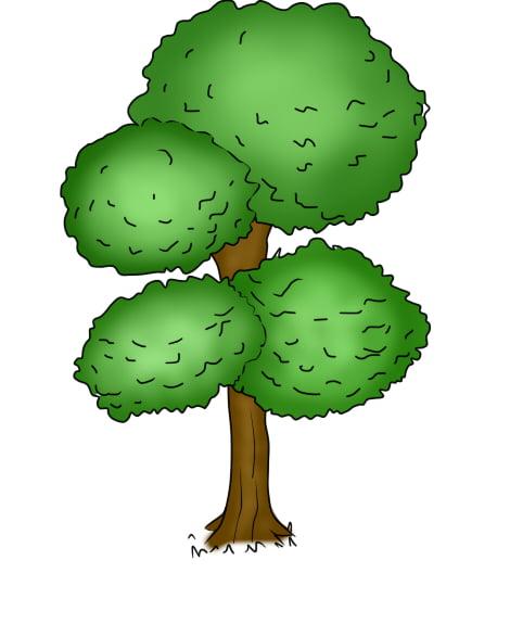 Aprender A Desenhar Arvores E Arbustos